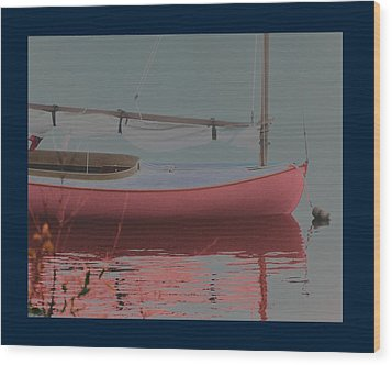 Waiting To Sail Wood Print by Rene Crystal