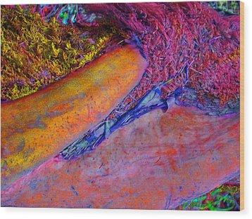 Wood Print featuring the digital art Waking Up by Richard Laeton