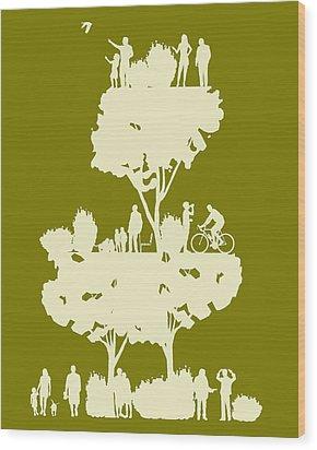 Walk In The Park Wood Print by Bojan Bundalo