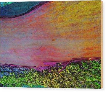 Wood Print featuring the digital art Walk Into The Future by Richard Laeton