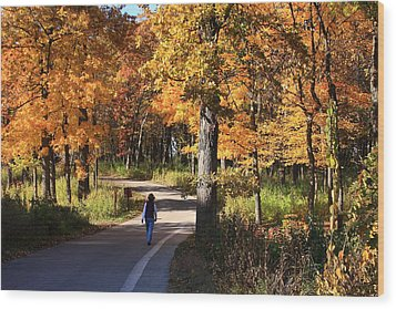 Walking Wood Print by Lyle Hatch