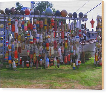 Wall Of Floats Wood Print by Kym Backland