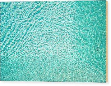 Water Background Wood Print by Tom Gowanlock