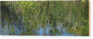 Water Emeralds And Sapphires Wood Print by Gretchen Wrede
