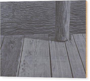 Water1 Wood Print by Jeffrey Babine