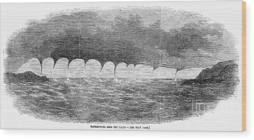 Waterspouts, 1856 Wood Print by Granger