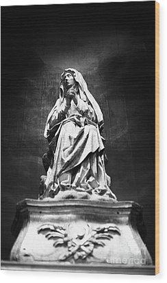 Weeping Madonna Wood Print by Gaspar Avila