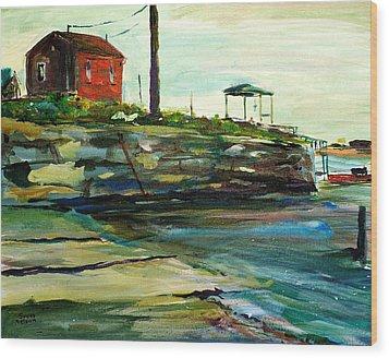 Wells Harbor Maine Wood Print by Scott Nelson
