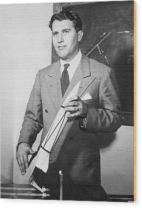 Wernher Von Braun, German Rocket Designer Wood Print by Nasa