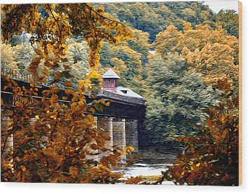 West Virginia Morn Wood Print by Bill Cannon