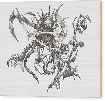 What Is On The Inside Part Three Wood Print by Anthony McCracken