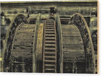 Wheel Of Industry Wood Print by John Monteath