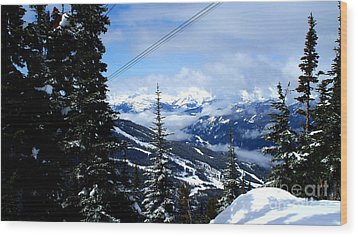 Whistler View  2 Wood Print by Tanya  Searcy