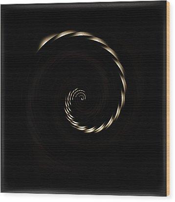 White Cherry Blossom Spiral 02 Wood Print by Li   van Saathoff
