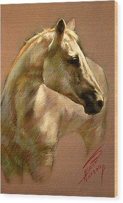White Horse Wood Print by Ylli Haruni