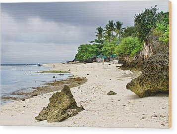 White Sand Beach Moal Boel Philippines Wood Print by James BO  Insogna