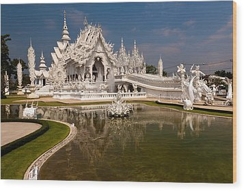 White Temple Wood Print by Adrian Evans