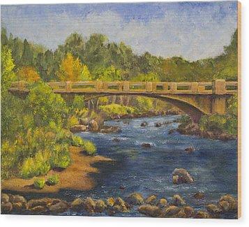 Whitney Crossing Wood Print by Jo-Anne Gazo-McKim