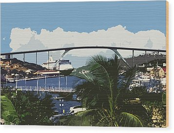 Willemstad - Curacao Wood Print by Juergen Weiss