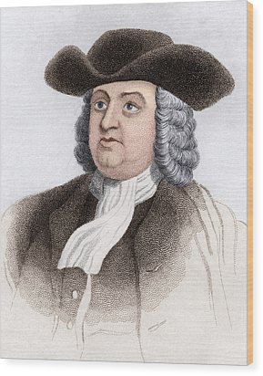 William Penn, English Coloniser Wood Print by Sheila Terry