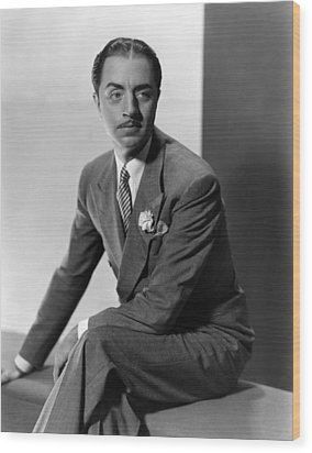 William Powell, Ca. 1930s Wood Print by Everett