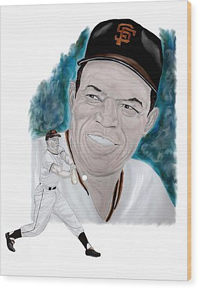 Willie Mays Wood Print by Steve Ramer