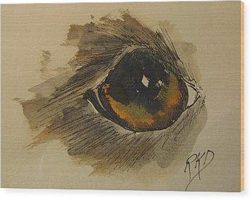 Willow Is Watching Wood Print by Ramona Kraemer-Dobson
