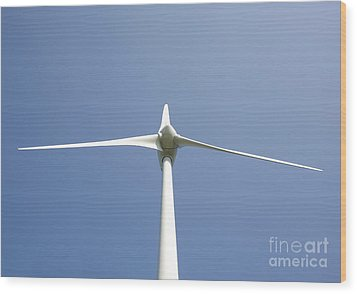 Wind Turbine Wood Print by Jaak Nilson