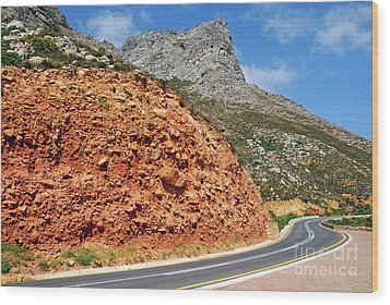 Winding Road Between Gordon's Bay And Betty's Bay Wood Print by Sami Sarkis