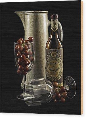 Wine Anyone? Wood Print by Jen Morrison