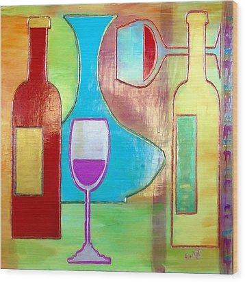 Wine Tasting Wood Print by Char Swift