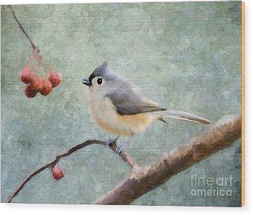 Winter Berries Wood Print by Betty LaRue