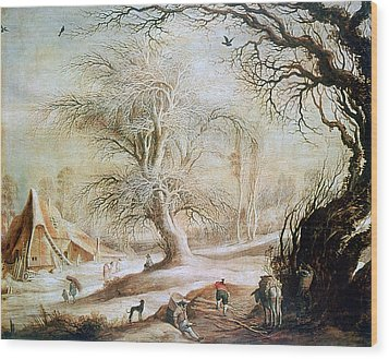 'winter Landscape', 17th Century, Painting Wood Print by Photos.com