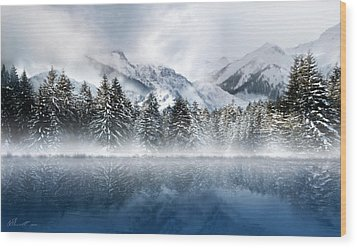 Winter Mist Wood Print by Svetlana Sewell