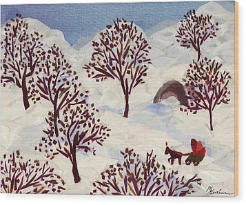 Winter Ride Wood Print by Marina Gershman