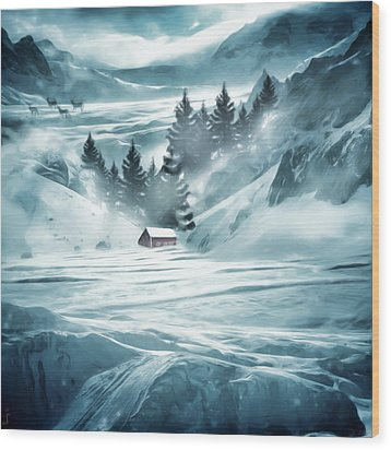 Winter Seclusion Wood Print by Lourry Legarde