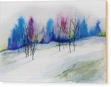 Winter Sorbet Wood Print by Lynne Furrer