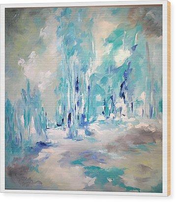 Winter Symphony Wood Print by Sue Prideaux