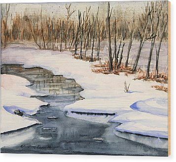 Winters Delight Wood Print by Kristine Plum