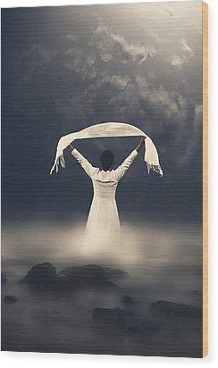 Woman In Water Wood Print by Joana Kruse