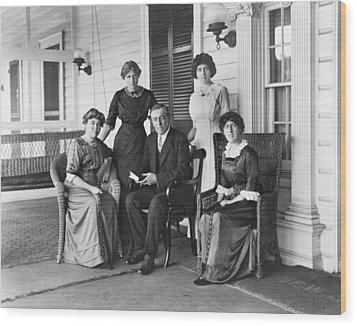 Woodrow Wilson With His First Wife Wood Print by Everett