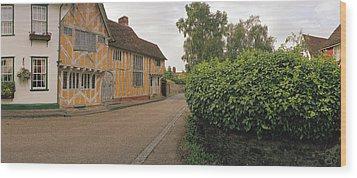 Wool Merchant House Lavenham Wood Print by Jan W Faul