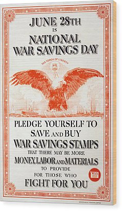 World War I, Poster In The Style Wood Print by Everett