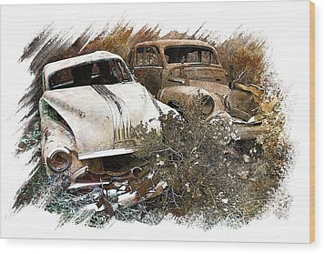 Wreck 3 Wood Print by Mauro Celotti