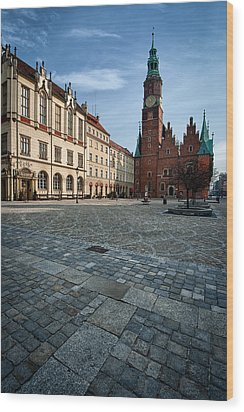 Wroclaw Town Hall Wood Print by Sebastian Musial