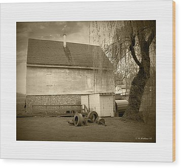 Wye Mill - Sepia Wood Print by Brian Wallace