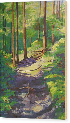 X Marks The Spot Wood Print by Mary McInnis