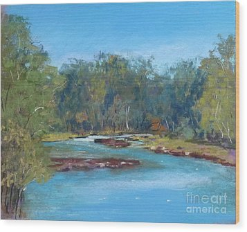 Yarra River Warrandyte Wood Print by Nadine Kelly