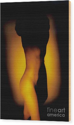 Yellow Wood Print by J erik Leiff