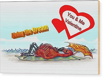 You And Me Valentine Wood Print by Carol Allen Anfinsen
